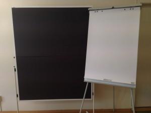 Moderationstafel und Flipchart (Foto: Christina Eppers)