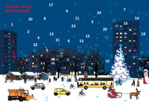 Poster des Johannstädter Advents. Grafik: Grit Koalick