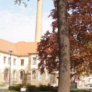 Blick in den Hof des Uniklinikums. Foto Alexandra Jentsch