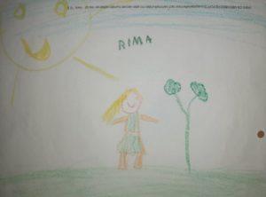 Eine Zeichnung von der Tochter des Autors. Foto: Mohammed Ghith Al Haj Hossin.