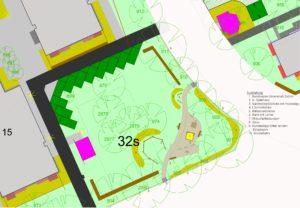 Der Plan des neuen Spielplatzes Pfeifferhanns-/Florian-Geyer-Straße. Foto: WGJ