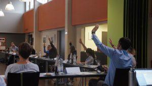 Hände hoch für den TSV Rotation 1990 e.V. Foto: Philine Schlick