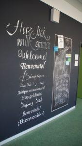Die 101. Oberschule Johannes Gutenberg besuchen 430 Schüler*innen aus 35 Nationen. Foto: Philine Schlick