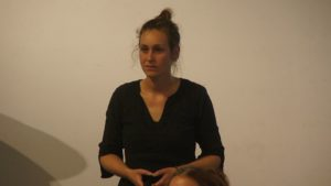 """Esther Heinke zeigte die Ziele und Pläne des Projektes """"Nachhaltige Johannstadt"""", das Klimaschutz und Nachhaltigkeit in allen Lebensbereichen vorantreibt. Foto: Philine Schlick"""