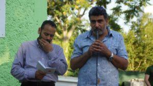 Dr. Saad Elgazar und Sami Ibrahim von der muslimischen Gemeinde. Foto: Philine Schlick