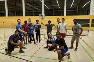 Das badminton-Team. Foto: NachtSport Dresden
