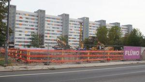 Die Baustelle der Flüwo am Käthe-Kollwitz-Ufer. Foto: Philine Schlick