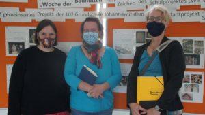 Kathrin Keßler, Katrin Popelka und Sigrid Böttcher-Steeb haben die Projektwoche der Bauhütten geplant. Foto: Philine Schlick