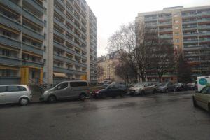 Blick vom langen Ende der Florian-Geyer-Straße über die Pfeifferhannsstraße auf das kurze Ende. Foto: Philine Schlick